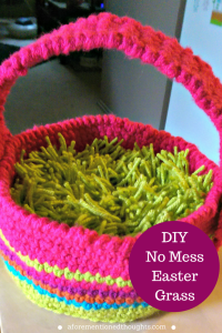 DIY No Mess Easter Grass
