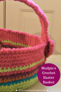 Mudpie's Crochet Easter Basket